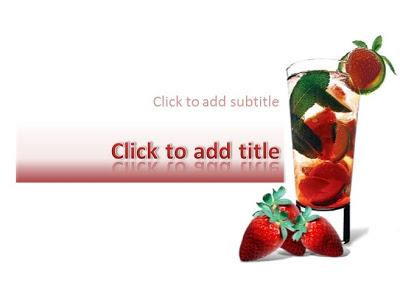 ice strawberry powerpoint templates 4 presentation