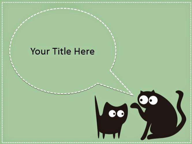 Black Cat Cat Powerpoint Templates 4 Presentation