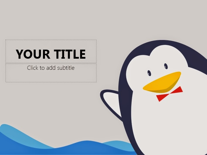 Cute penguin powerpoint templates 4 presentation we create powerpoint templates and tutorials toneelgroepblik Choice Image