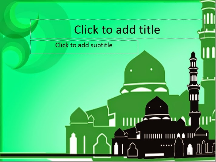 Green mosque powerpoint templates 4 presentation we create powerpoint templates and tutorials toneelgroepblik Choice Image