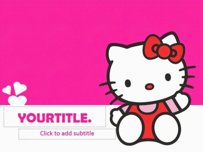 Hello Kitty Powerpoint Templates 4 Presentation