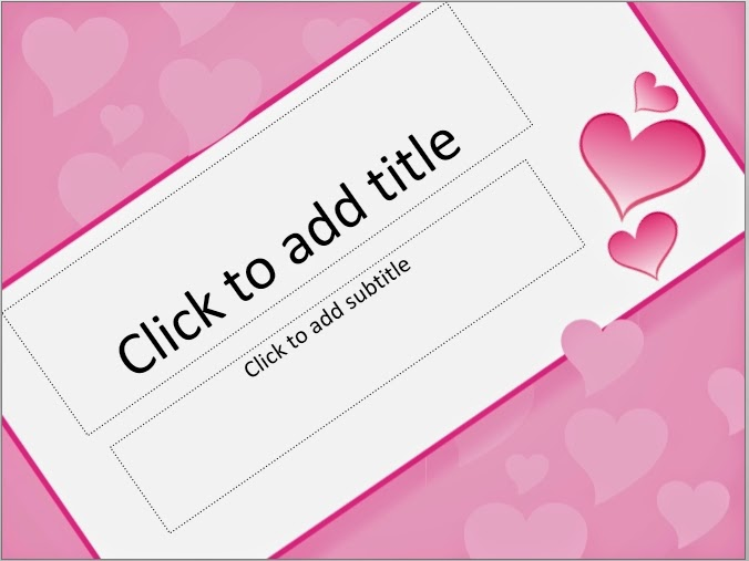 Pink Love Powerpoint Templates 4 Presentation