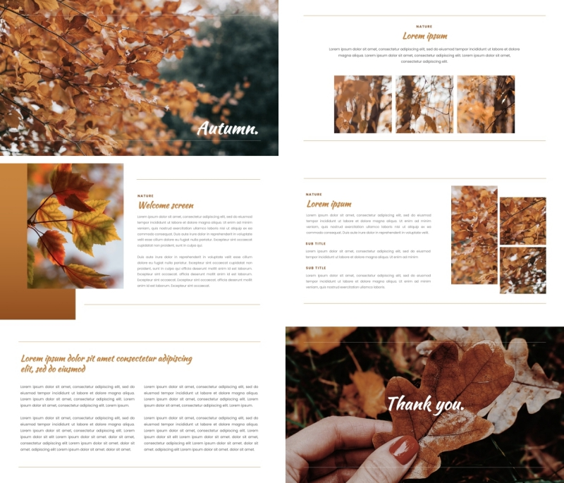 Autumn Leaves PPT Template