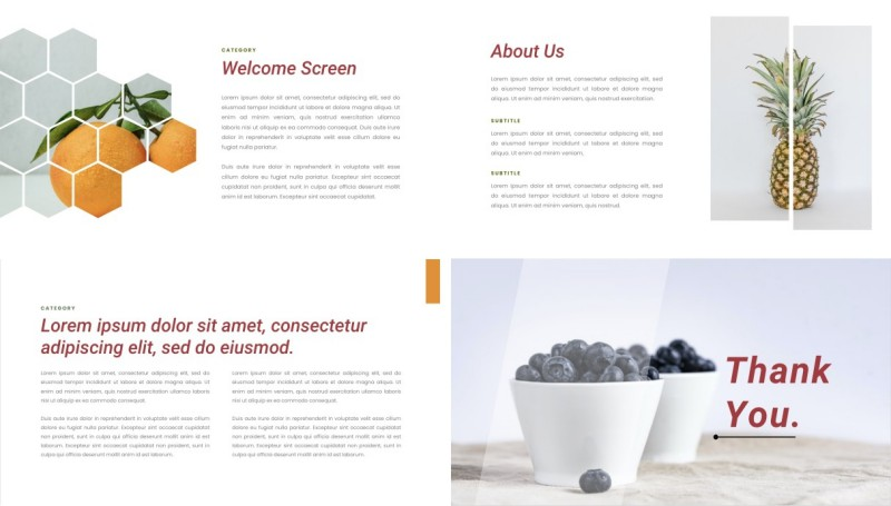 Fruits PPT Template