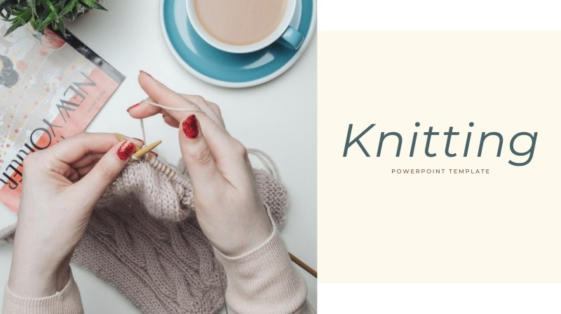 Knitting Powerpoint Template