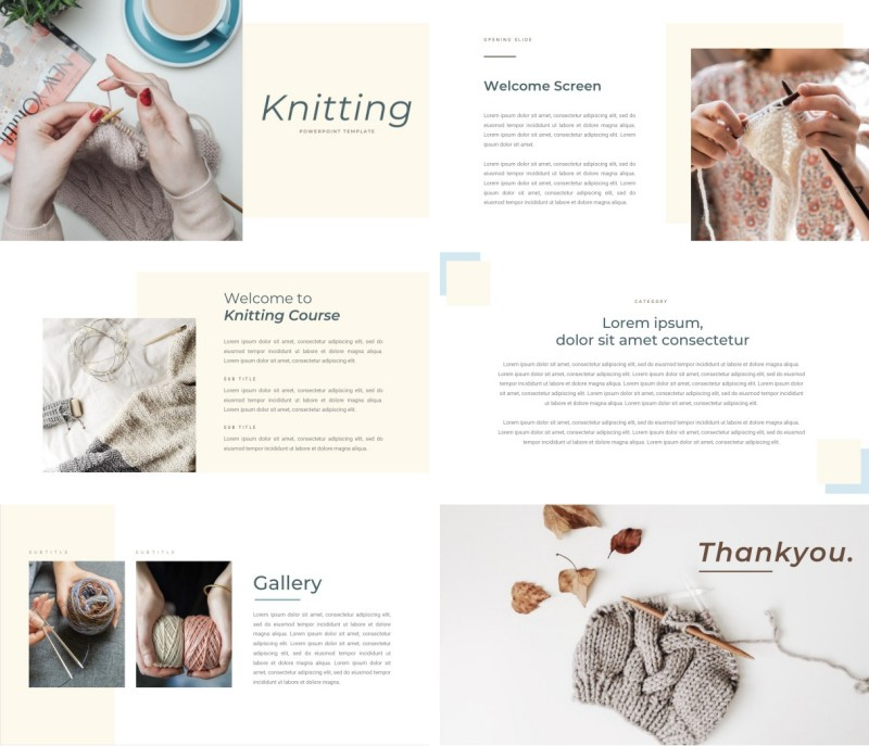 Knitting PPT Template