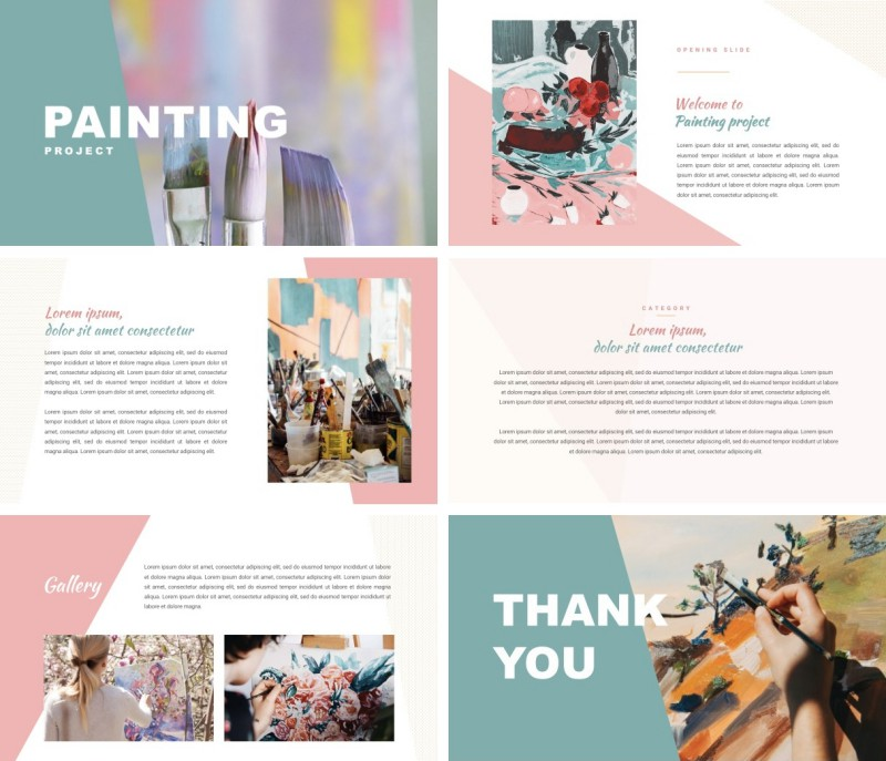 Painting PPT Template