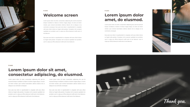 Piano PPT Template